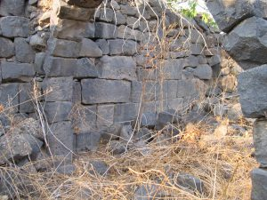 Ashlar wall, courtesy of Eran Meir © <i> synagogues.kinneret.ac.il </i>