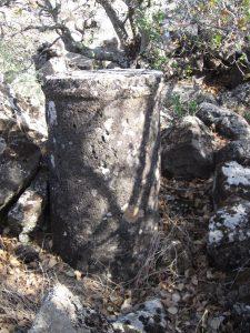 Column in situ, courtesy of Eran Meir © <i> synagogues.kinneret.ac.il </i>