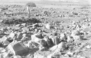 Remains of the monumantel building IAA survey (see link below) map 18 site 196 fig. 1, courtesy of Yossi Stepanski and the Israel Antiquities Authority © <i> synagogues.kinneret.ac.il </i>